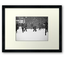 Snow Business Framed Print