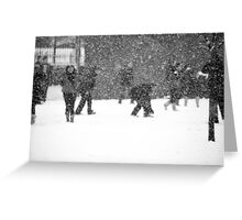 Snow Business Greeting Card
