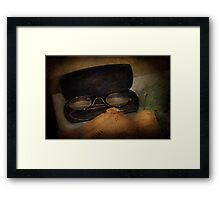 Optometrist - Glasses for Reading  Framed Print