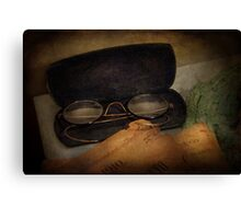 Optometrist - Glasses for Reading  Canvas Print