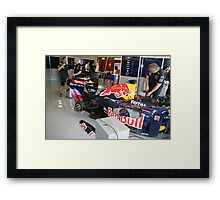 Get the wheels on time to go! Framed Print