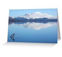 Winter over Loch Lomond, Scotland Greeting Card