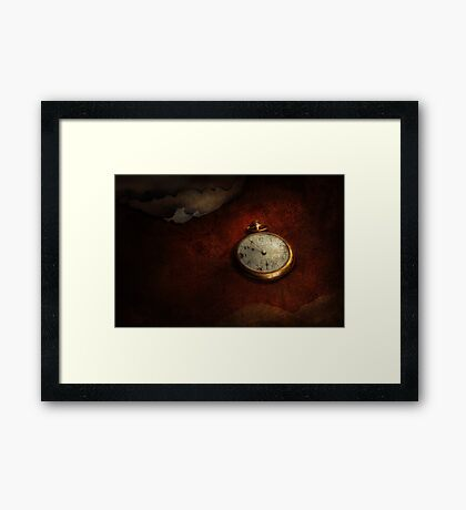 Clock - Time waits for nothing  Framed Print