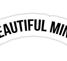 Pure Beautiful Mind (Black on White) Sticker