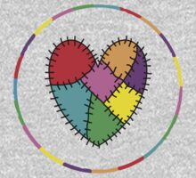 colourful patchwork heart Kids Clothes