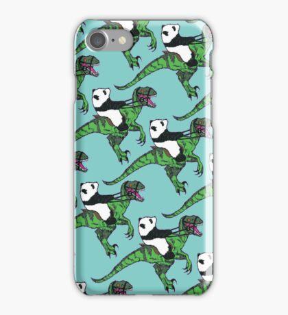 Jurassic Panda logo print blue iPhone Case/Skin