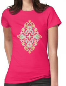 Soft Neon Pastel Boho Pattern Womens Fitted T-Shirt