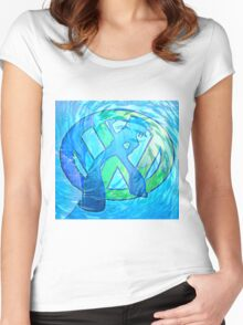 vw wave Women's Fitted Scoop T-Shirt