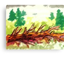 Fallen tree #2, watercolor Canvas Print