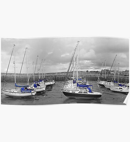 Boats in Blue Poster