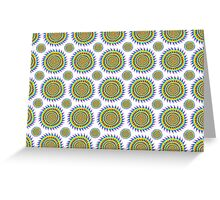 Shark Infested Sunshine Pattern Greeting Card
