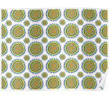 Shark Infested Sunshine Pattern Poster