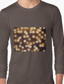 Abstract defocused and blur bokeh of small yellow flames Long Sleeve T-Shirt