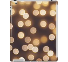 Abstract defocused and blur bokeh of small yellow flames iPad Case/Skin