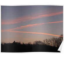 Clouds Streaking Across the Sunrise Poster