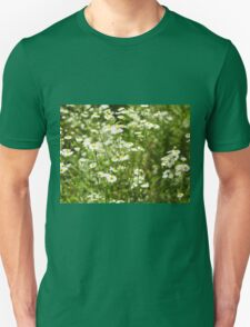 Herbs on the lawn - small white camomile flowers Unisex T-Shirt