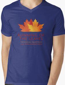 Running of the Leaves Mens V-Neck T-Shirt