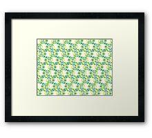 Swirly Emblem Pattern Framed Print