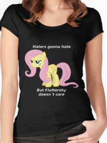 Fluttershy Haters gonna Hate Women's Fitted Scoop T-Shirt