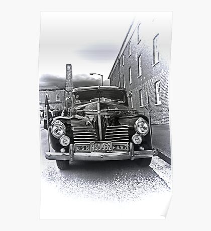 1940 Plymouth P9  US Navy Staff car Poster