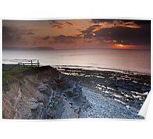 Kilve Stormy Sunset Poster