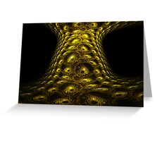 Reptile Tree Bark Eyes Greeting Card