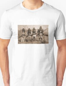 Homeland Security funny native amercan indian black tee shirt tshirt Unisex T-Shirt
