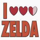 I Love Heart Heart Heart Zelda by gleekgirl