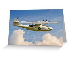 Plane Sailing Canso Greeting Card