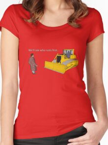 Hitchhiker's Guide to the Galaxy: We'll See Who Rusts First Women's Fitted Scoop T-Shirt