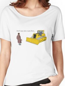 Hitchhiker's Guide to the Galaxy: We'll See Who Rusts First Women's Relaxed Fit T-Shirt