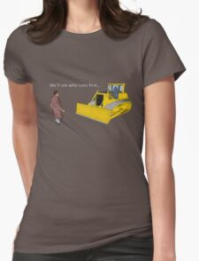 Hitchhiker's Guide to the Galaxy: We'll See Who Rusts First Womens Fitted T-Shirt