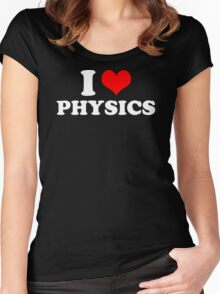 I LOVE HEART PHYSICS FUNNY T-SHIRT MENS WOMENS CHILDRENS SIZES CHRISTMAS Women's Fitted Scoop T-Shirt
