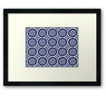 Blue Paisley Pattern Framed Print