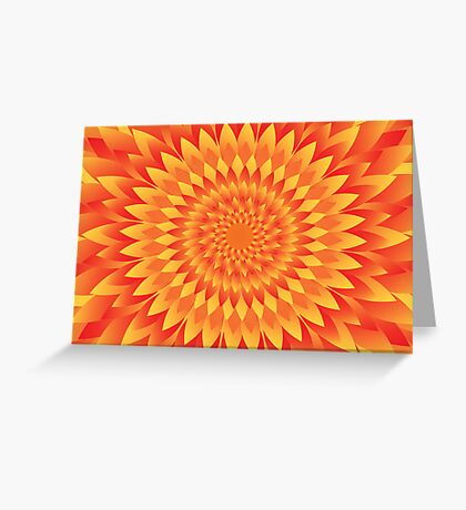 Firery Abyss Greeting Card