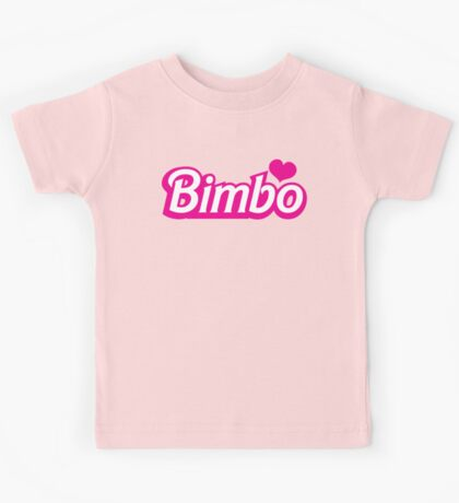Bimbo in cute little dolly doll font Kids Tee