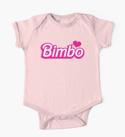 Bimbo in cute little dolly doll font One Piece - Short Sleeve