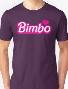 Bimbo in cute little dolly doll font Unisex T-Shirt