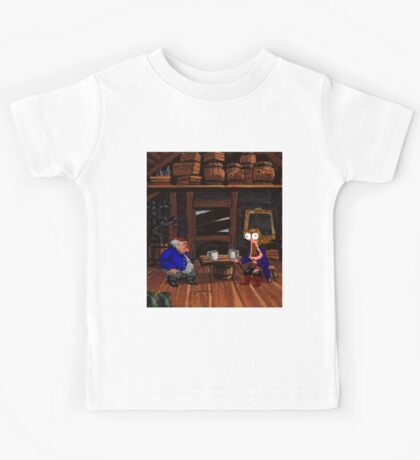 Drinking contest with Rum Rogers Jr (Monkey Island 2) Kids Tee