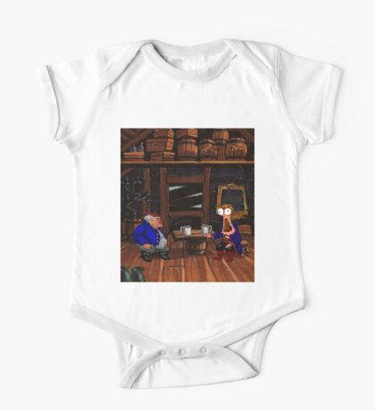 Drinking contest with Rum Rogers Jr (Monkey Island 2) One Piece - Short Sleeve