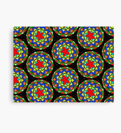 Flower Mandala Pattern Canvas Print
