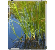 Water reeds growing out of the water iPad Case/Skin