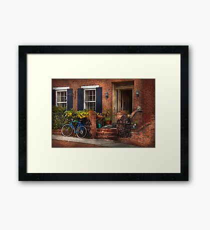 Bike - Waiting for a ride Framed Print