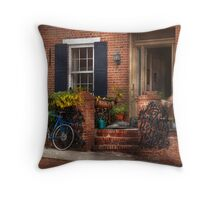 Bike - Waiting for a ride Throw Pillow