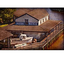 Boat - Tuckerton Seaport - Hotel DeCrab  Photographic Print