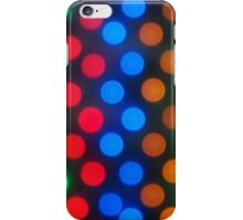 Defocused and blur image of multi-colored lights iPhone Case/Skin
