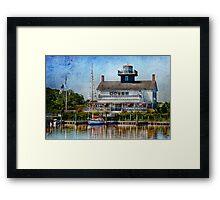Boat - Tuckerton Seaport - Tuckerton Lighthouse Framed Print