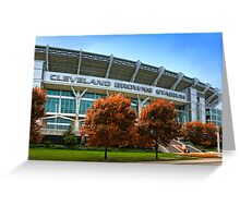Cleveland Browns Stadium - Cleveland, Ohio Greeting Card