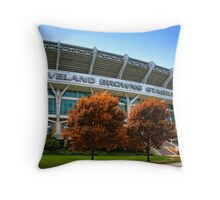 Cleveland Browns Stadium - Cleveland, Ohio Throw Pillow