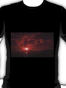 Bedruthan Sunset,North Cornwall T-Shirt